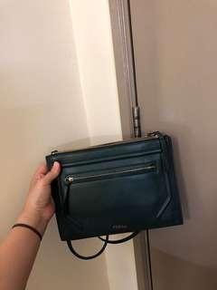 Furla Alice Mini Sling Bag in Dark Green