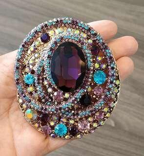 Luxury Large Austrian Rhinestones and Crystals Brooch