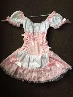 Halloween costume pink maid