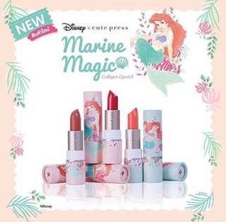 Cute Press x Disney小魚仙唇膏3.7g🧜🏻♀️💄(Col:02 Clumsy Coral)🇹🇭泰國制✨全新📮包郵