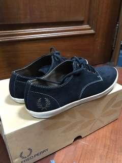 Fred Perry Black Suede Shoes