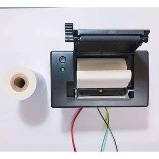 嵌入式系統專用迷你熱感式印表機