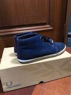 Fred Perry Blue Suede Shoes