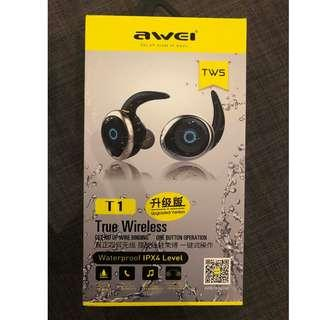 Awei T1 TWS Dual Bluetooth Earphones IPX4 Headphone