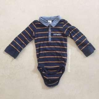H&M Blue Brown Stripes