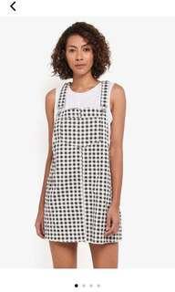 經典格紋吊帶裙