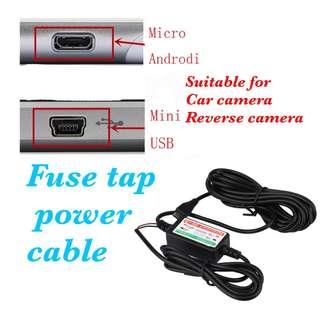Fuse tap power cable source