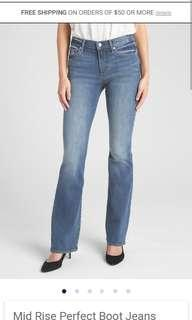 #BlackFriday100 Mid rise perfect boot jeans us34