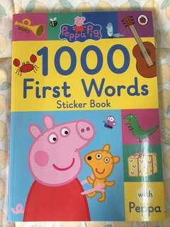 Peppa pig英文詞語學習書 包順豐