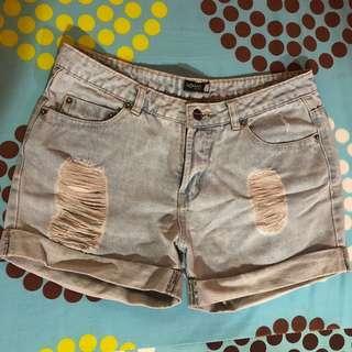 SM WOMAN ripped shorts