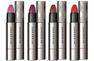 Burberry Full Kisses Lip Colour, Dewberry and Military Red
