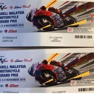 MotoGP TICKETS G Hillstand