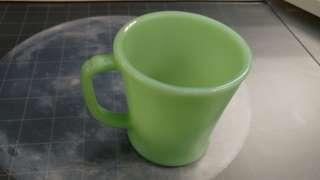 Fire King Jadeite Vintage 1pc D-handle mugs, made in USA.