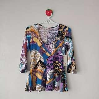 Mosaic printed blouse
