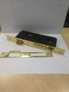 Casa 3 bolt mortise lock case - polish brass