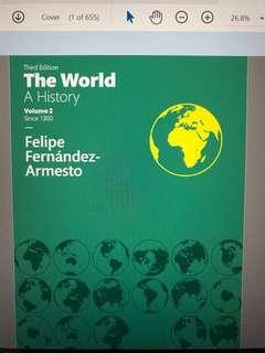 The world: A history, Volume 2 (2nd/3rd ed.)