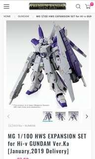 P bandai HWS set for MG 1/100 hi nu gundam