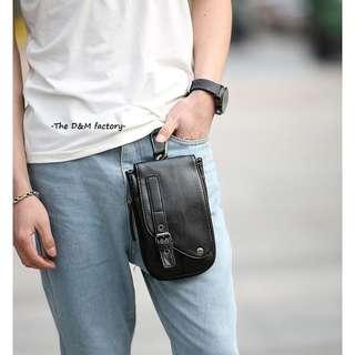 3f7cb74a745 Black Pouch Leather Men Belt Pouch Bag (Sport   casual)