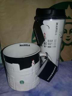 STARBUCKS MUG+TUMBLER manila global relief