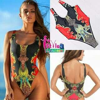 High Cut Tribal One Piece Swimsuit