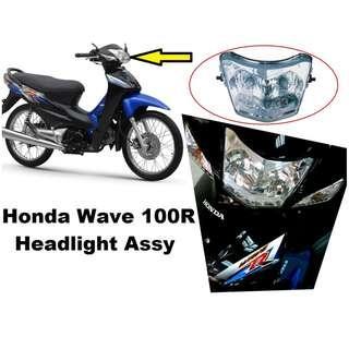 Motorcycle Headlight Assy HONDA WAVE 100R with Bulb Lights