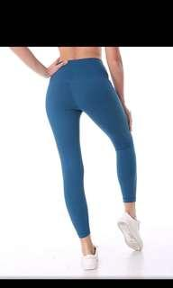 Blue gym leggings (high quality Lululemon align dupes)