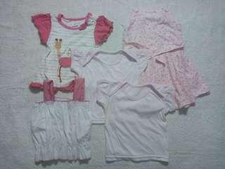 Preloved Assorted Pambahay Set for Baby Girl