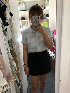Pull & bear checkered crop top