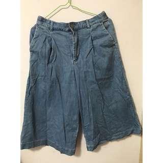 Uniqlo牛仔七分寬褲 #十月女裝半價