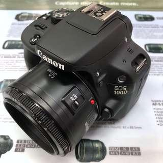 Canon EOS 100D + EF 50mm F1.8 II (FIXED PRICE)