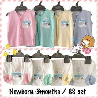 🚚 Newborn SS set (sleveless+bottom)