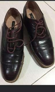 H&M leather brogue shoes