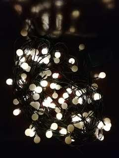 Frosted Balls lighting chain 32ft (half not working)