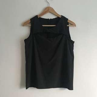 Black Cut Out Top #MY1010