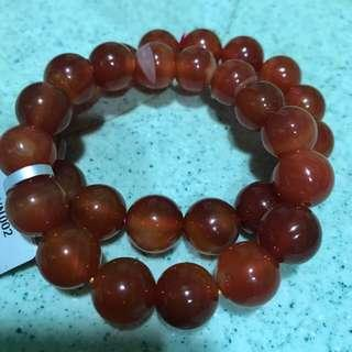 Genuine red Agate bracelet