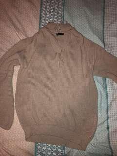 PLT knit  choker dress / pull over