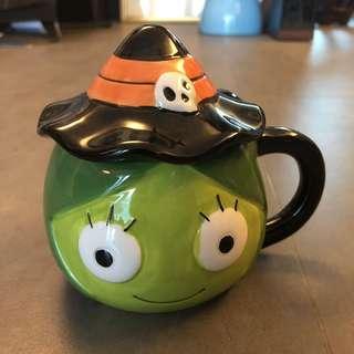 Halloween witch glass mug 萬聖節🎃巫婆茶杯