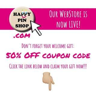Welcome to our webstore! Claim your 50% OFF coupon code welcome gift now 👇🏼
