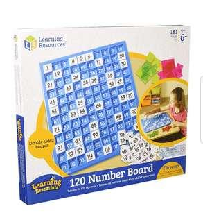 earning Resources 120 Number Board, 181 Pieces