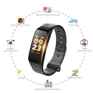 Smart Band C1s Smart Bracelet Heart Rate Blood Pressure Pedometer Smart Wristband Fitness Bracelet Activity Tracker PK Mi Band 2