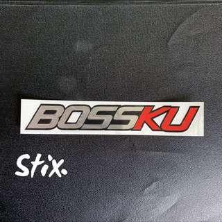 Bossku Vinyl Cut Sticker