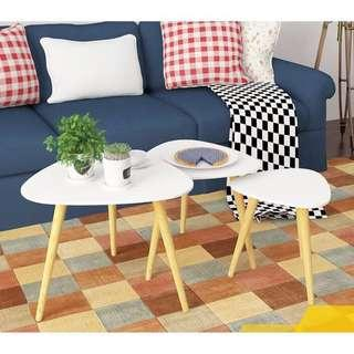 Triangle Top Eames inspired side/center table