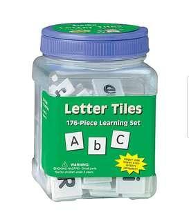 Eureka Tub Of Letter Tiles