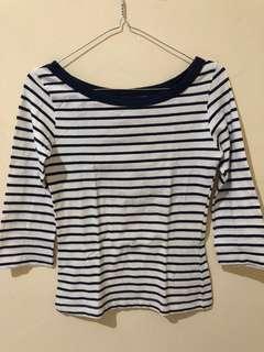 H&M Navy Stripes T-shirt