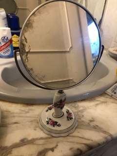 Antique stand mirror