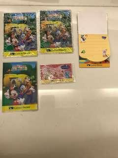 Mickey Mouse clubhouse passholders, notepads