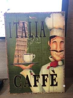 Vintage wall decor made of wood