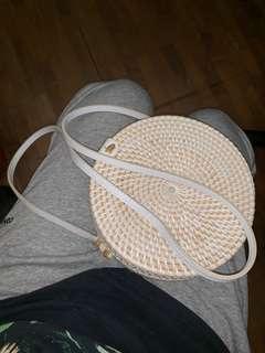 Straw round bag