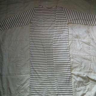 Stripe Outer Outwear Cardi Cardigan