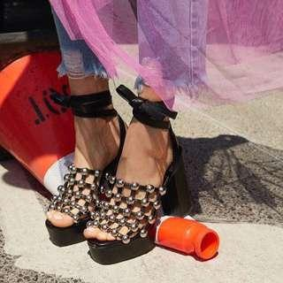 Nasty gal tourist trap studded heels
